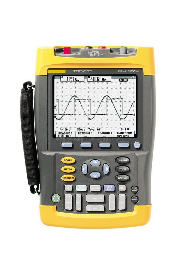 βιομηχανικό scopemeter στοκ εικόνα με δικαίωμα ελεύθερης χρήσης