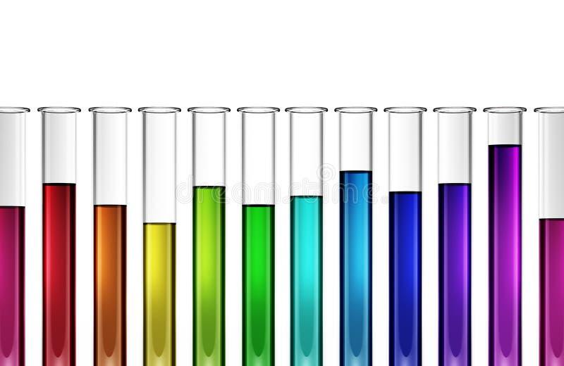 Βιοτεχνολογία τεχνολογίας - χημική ουσία - έρευνα - σωλήνας δοκιμής - τρισδιάστατος διανυσματική απεικόνιση
