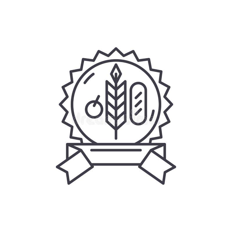 Βιο έννοια εικονιδίων γραμμών παραγωγής Βιο διανυσματική γραμμική απεικόνιση προϊόντων, σύμβολο, σημάδι απεικόνιση αποθεμάτων