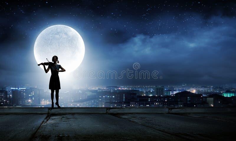 Βιολιστής γυναικών στοκ φωτογραφία