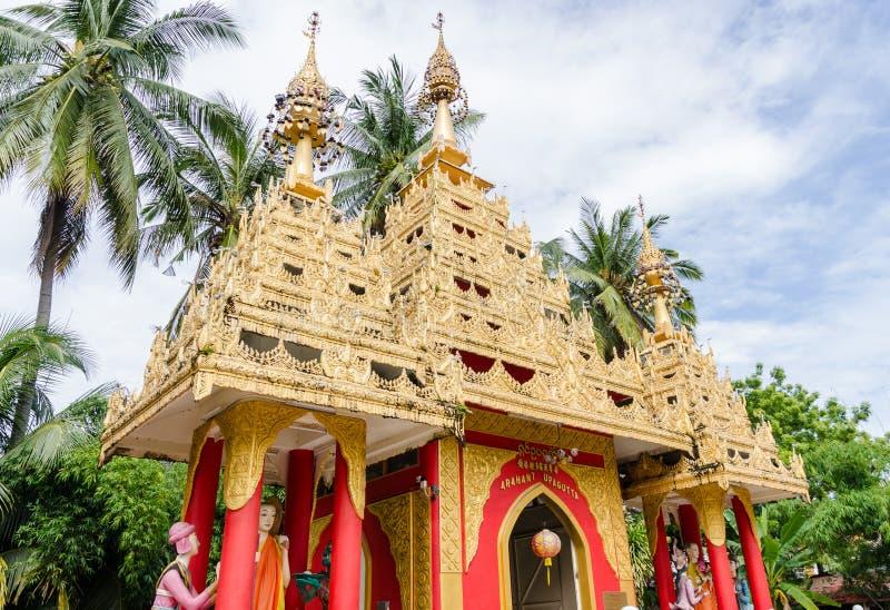 Βιρμανός ναός Dhammikarama στην Τζωρτζτάουν Penang, Μαλαισία στοκ φωτογραφίες