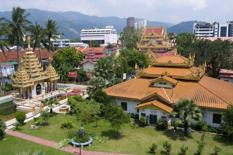 Βιρμανός ναός Dharmikarama στοκ εικόνες