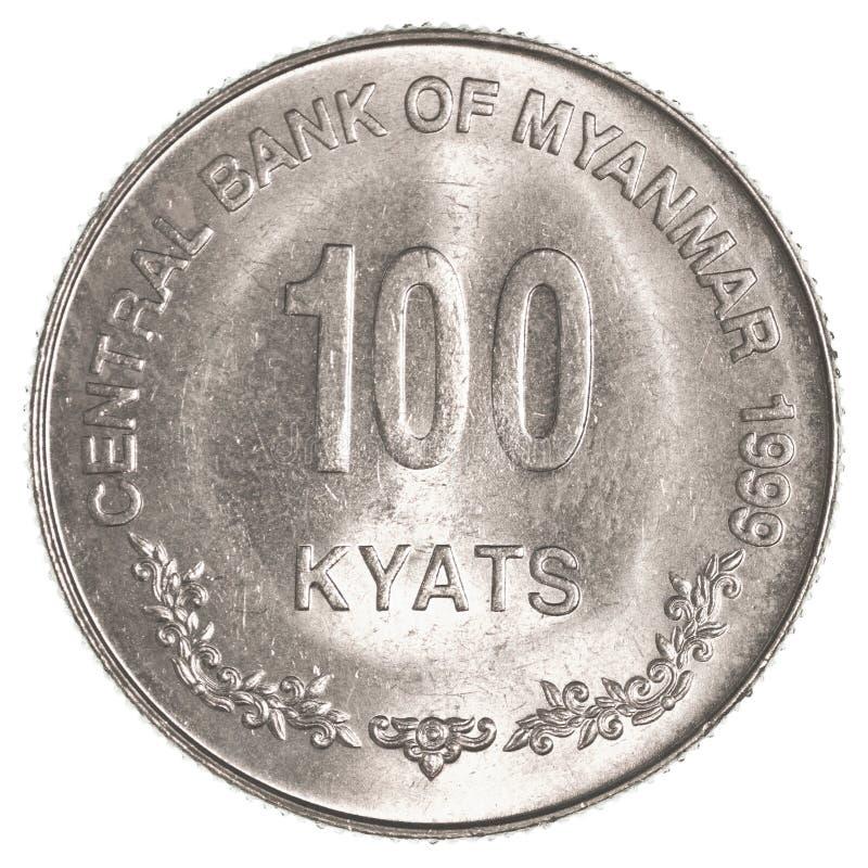 100 βιρμανός νόμισμα KYAT της Myanmar στοκ εικόνα