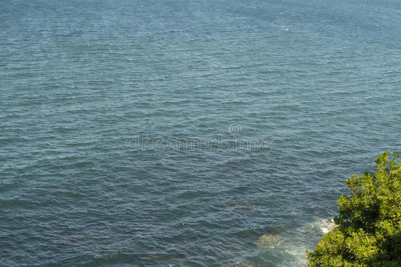 Βισκαϊκός κόλπος με τη δασική ακτή στοκ εικόνα