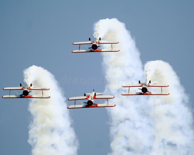 βισμούθιο αεροπλάνα stearman στοκ φωτογραφίες