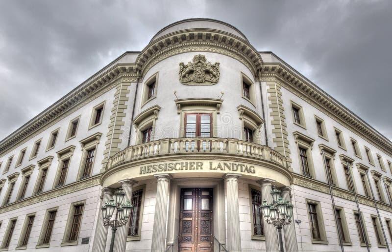 Βισμπάντεν Hessischer Landtag στοκ εικόνες