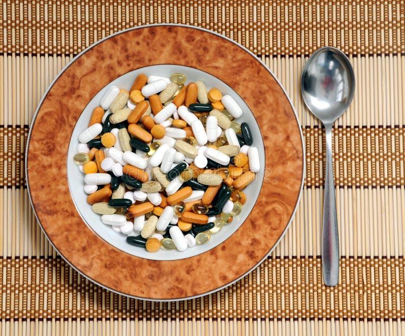βιταμίνες σούπας στοκ φωτογραφία με δικαίωμα ελεύθερης χρήσης