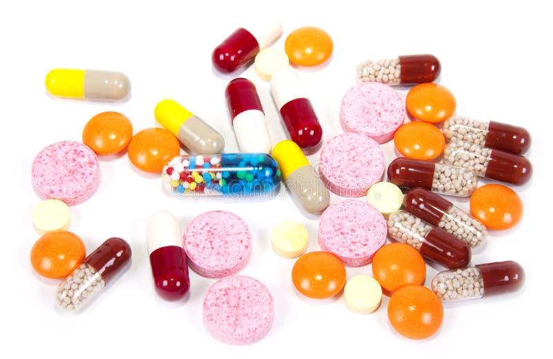 βιταμίνες χαπιών στοκ εικόνα με δικαίωμα ελεύθερης χρήσης