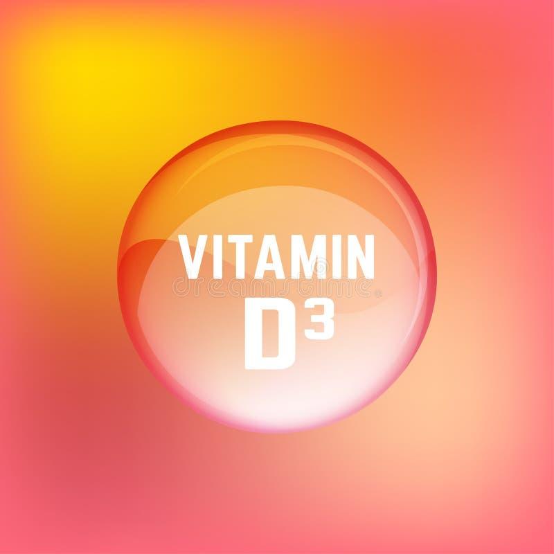Βιταμίνη D3 02 Α απεικόνιση αποθεμάτων