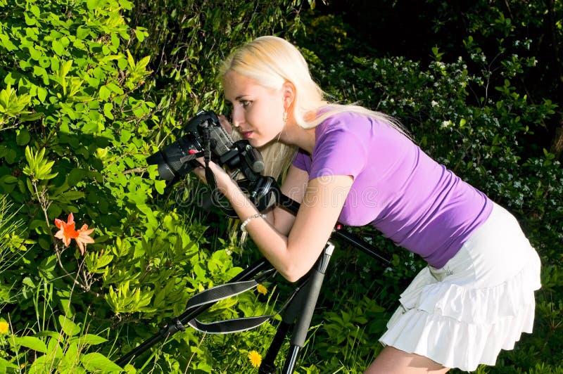βλάστηση κοριτσιών στοκ φωτογραφίες