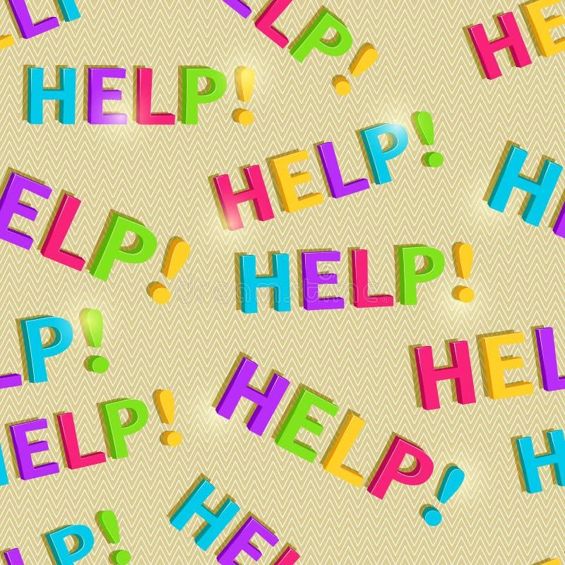 Βοήθεια Word γραψίματος χεριών άνευ ραφής σχέδιο ελεύθερη απεικόνιση δικαιώματος