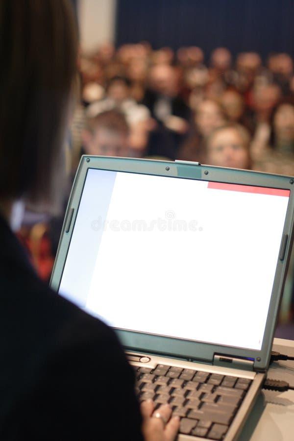 βοηθημένη παρουσίαση υπολογιστών στοκ εικόνα με δικαίωμα ελεύθερης χρήσης