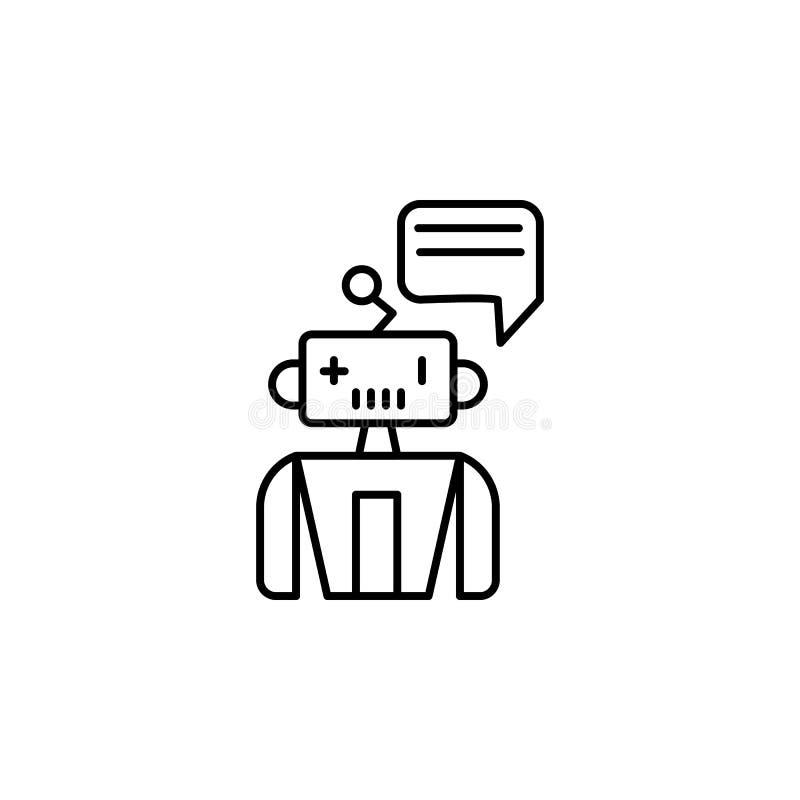 Βοηθητικό εικονίδιο γραμμών έννοιας μηχανών ρομπότ Απλή απεικόνιση στοιχείων Βοηθητικό σχέδιο συμβόλων περιλήψεων έννοιας μηχανών διανυσματική απεικόνιση