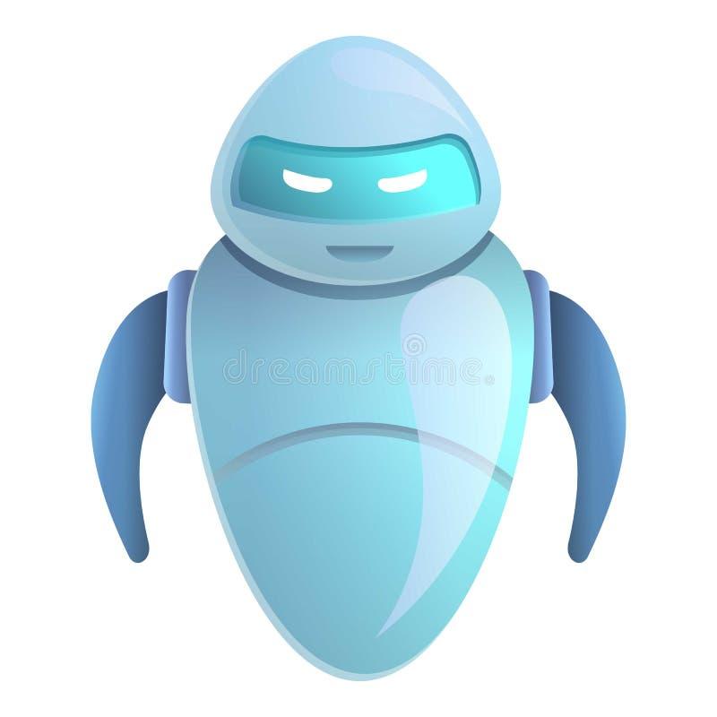 Βοηθητικό εικονίδιο chatbot, ύφος κινούμενων σχεδίων απεικόνιση αποθεμάτων