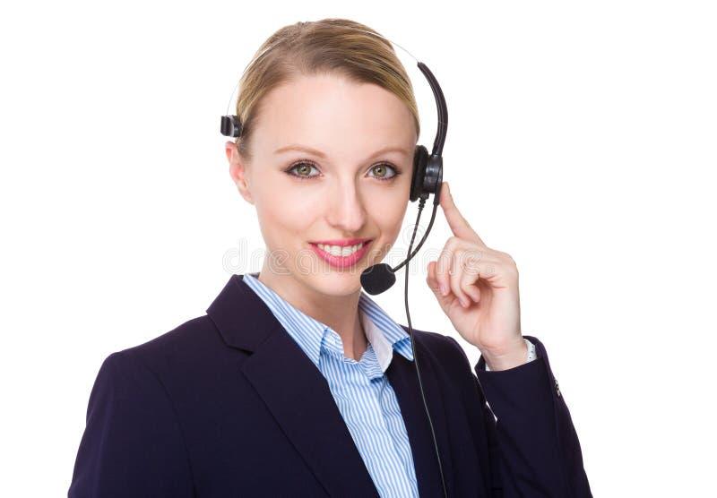 Βοηθός εξυπηρέτησης πελατών στοκ φωτογραφία