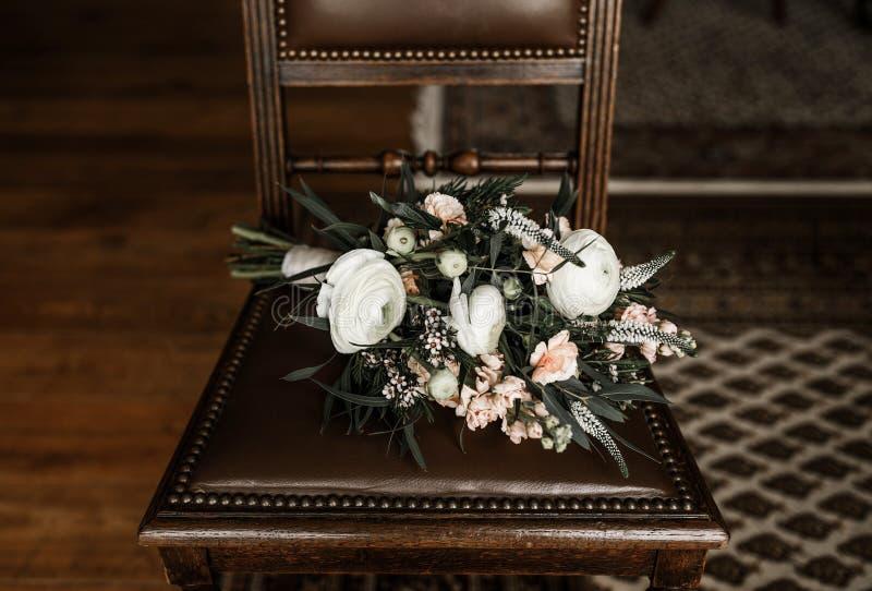 Βοημίας γαμήλια λουλούδια ύφους στοκ φωτογραφία