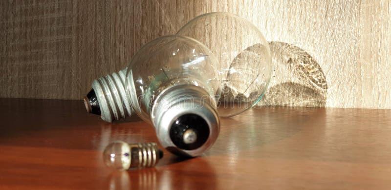 Βολβοί του Edison Λάμπες φωτός γυαλιού Βολβοί για την κινηματογράφηση σε πρώτο πλάνο φωτισμού στοκ εικόνα