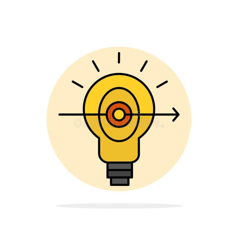 Βολβός, επιτυχία, εστίαση, επιχειρησιακών αφηρημένο κύκλων εικονίδιο χρώματος υποβάθρου επίπεδο απεικόνιση αποθεμάτων