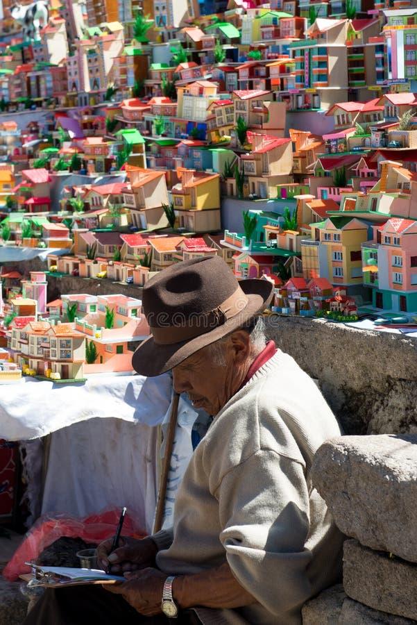 Βολιβιανή ημέρα γιορτής της κυρίας Virgin Copacabana στοκ εικόνες