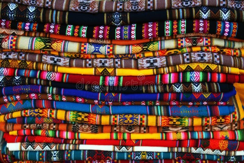 Βολιβιανοί χρωμάτισαν τα &t στοκ εικόνες