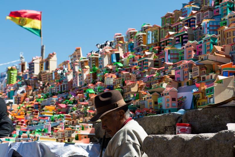 Βολιβιανό φεστιβάλ της κυρίας Copacabana στοκ εικόνες με δικαίωμα ελεύθερης χρήσης
