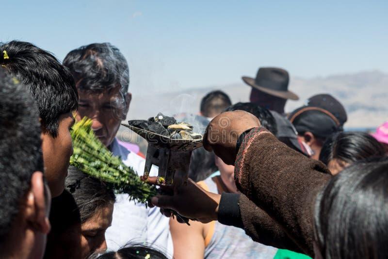 Βολιβιανό φεστιβάλ της κυρίας Copacabana στοκ εικόνα με δικαίωμα ελεύθερης χρήσης
