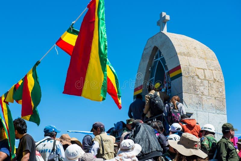 Βολιβιανό φεστιβάλ της κυρίας Copacabana στοκ φωτογραφία