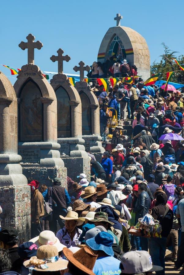 Βολιβιανό φεστιβάλ της κυρίας Copacabana στοκ εικόνες