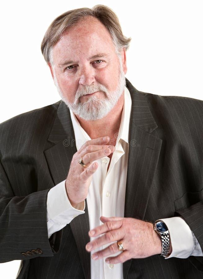 βολικό gesturing άτομο στοκ φωτογραφία με δικαίωμα ελεύθερης χρήσης