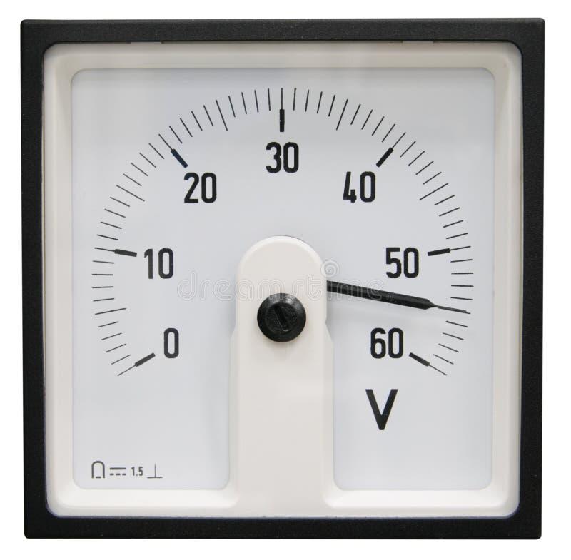 βολτόμετρο στοκ εικόνα με δικαίωμα ελεύθερης χρήσης
