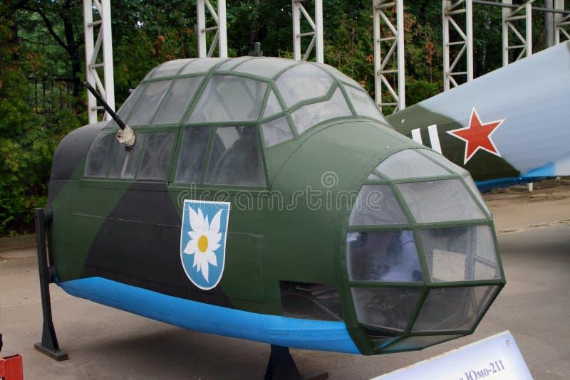 Βομβαρδιστικό αεροπλάνο Junkers JU 88Ð  1 Γερμανία πιλοτηρίων με τη δικαιολογία του εξοπλισμού στοκ φωτογραφία με δικαίωμα ελεύθερης χρήσης