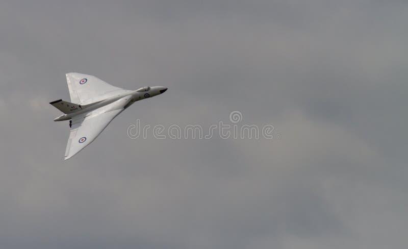 Βομβαρδιστικό αεροπλάνο της Vulcan κατά την πτήση στοκ φωτογραφία με δικαίωμα ελεύθερης χρήσης