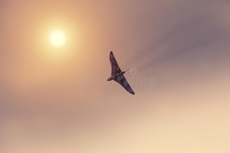 βομβαρδιστικό αεροπλάνο vulcan στοκ εικόνα με δικαίωμα ελεύθερης χρήσης
