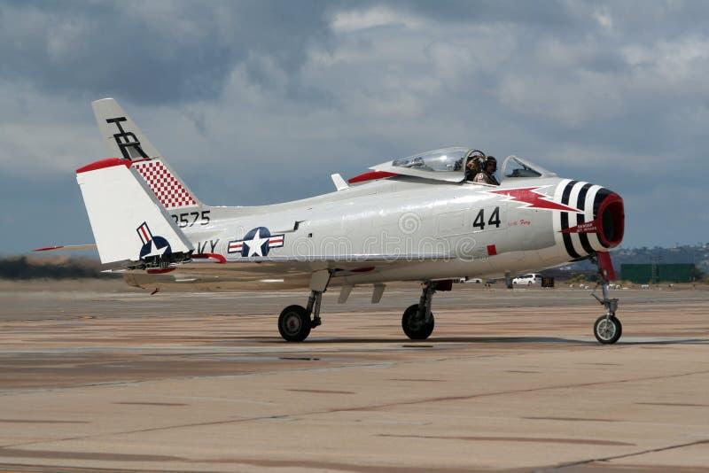 Βορειοαμερικανική FJ-4B μανία warbird στοκ φωτογραφίες με δικαίωμα ελεύθερης χρήσης