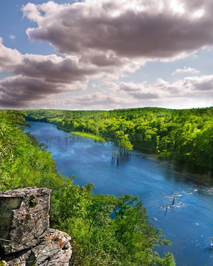 Βορειοαμερικανικοί δάσος και ποταμός στοκ φωτογραφίες με δικαίωμα ελεύθερης χρήσης