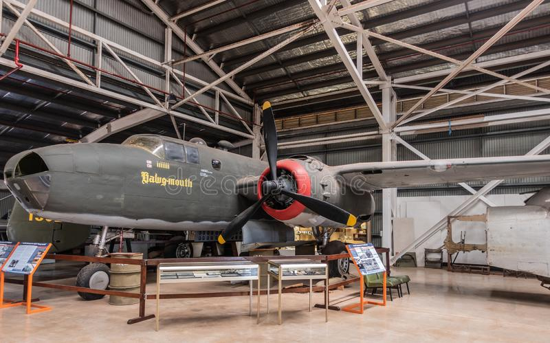 Βορειοαμερικανικός β-25 Mitchell στο αυστραλιανό κέντρο κληρονομιάς αεροπορίας, Δαρβίνος στοκ εικόνα