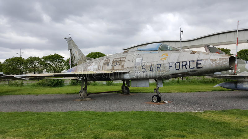 Βορειοαμερικανικό φ-100D έξοχο Sabre στοκ εικόνες