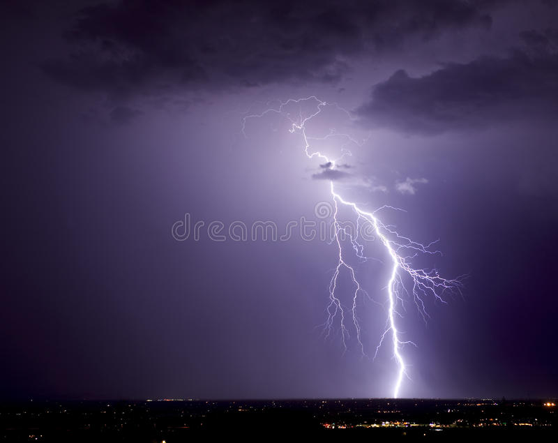βορειοδυτικό Tucson αστραπή&sigmaf Στοκ Φωτογραφίες