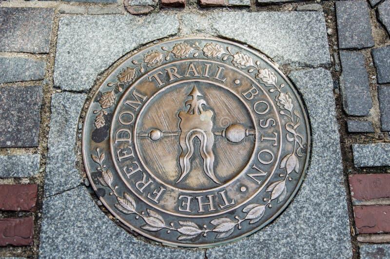 Βοστώνη - ίχνος ελευθερίας στοκ εικόνα
