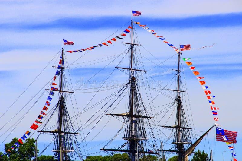 Βοστώνη, το σύνταγμα USS στοκ φωτογραφία