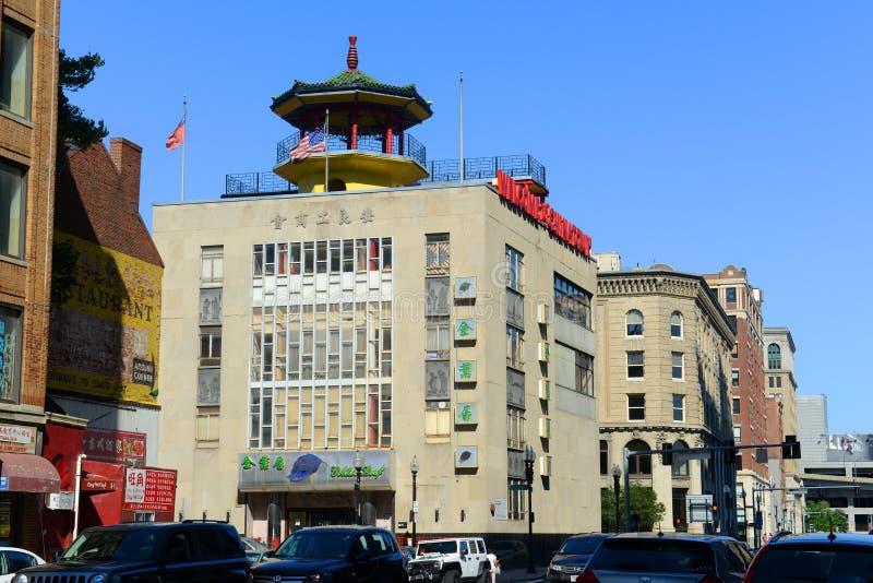 Βοστώνη Chinatown, Μασαχουσέτη, ΗΠΑ στοκ φωτογραφία με δικαίωμα ελεύθερης χρήσης