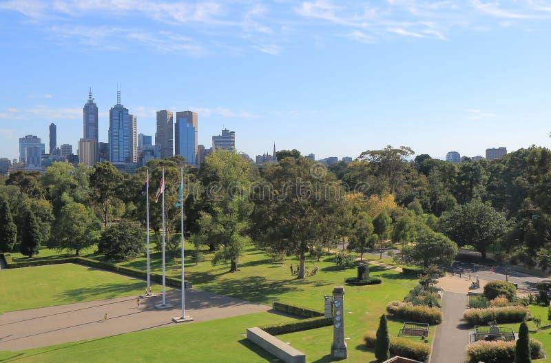 Βοτανικοί κήποι Αυστραλία εικονικής παράστασης πόλης της Μελβούρνης στοκ φωτογραφία με δικαίωμα ελεύθερης χρήσης