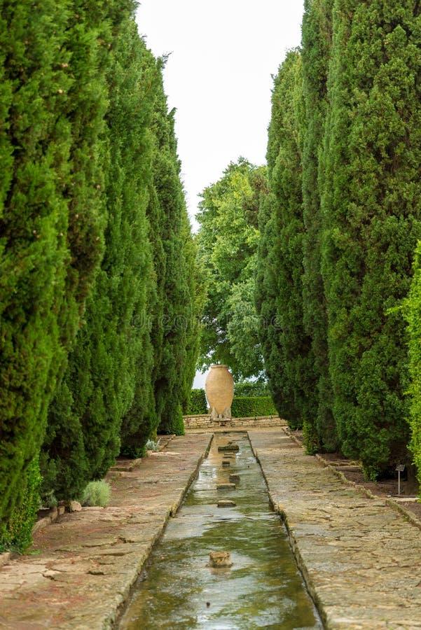 Βοτανικός κήπος στο παλάτι Balchik στη Βουλγαρία στοκ εικόνα