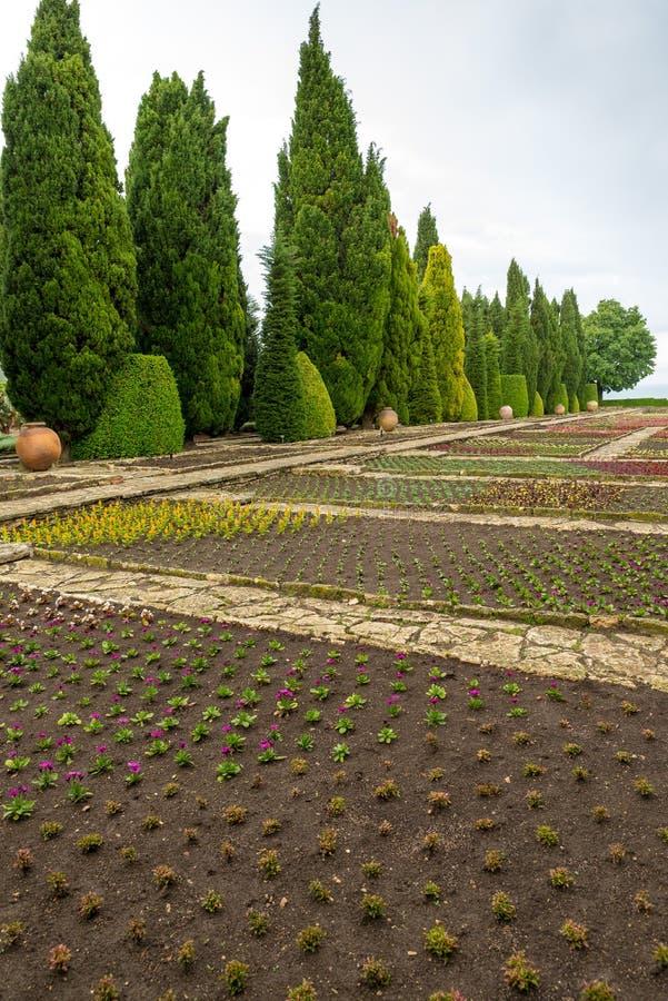 Βοτανικός κήπος στο παλάτι Balchik στη Βουλγαρία στοκ φωτογραφία