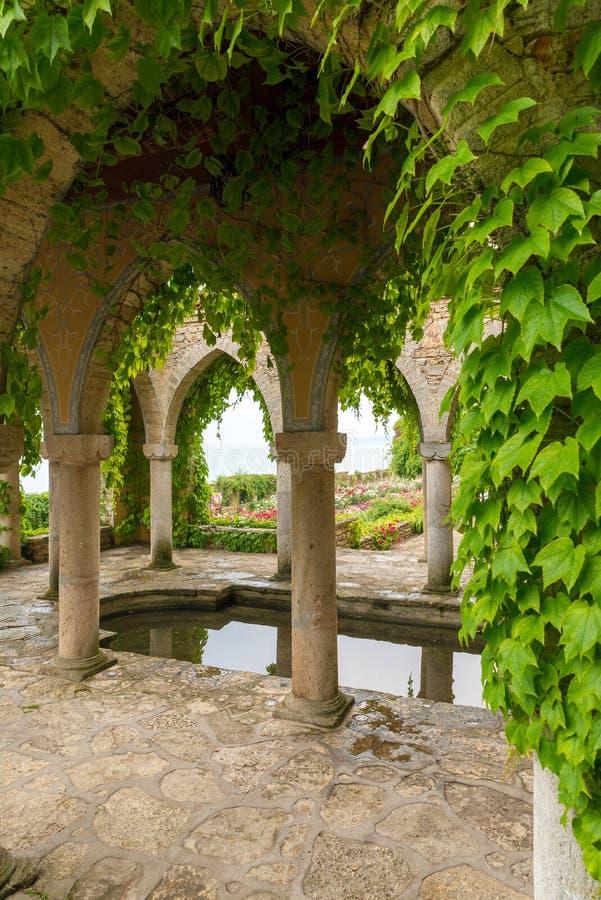 Βοτανικός κήπος στο παλάτι Balchik στη Βουλγαρία στοκ φωτογραφίες