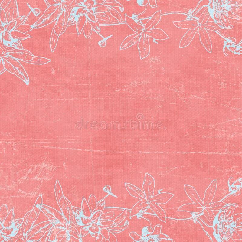 βοτανικός τρύγος εγγράφου florals ανασκόπησης