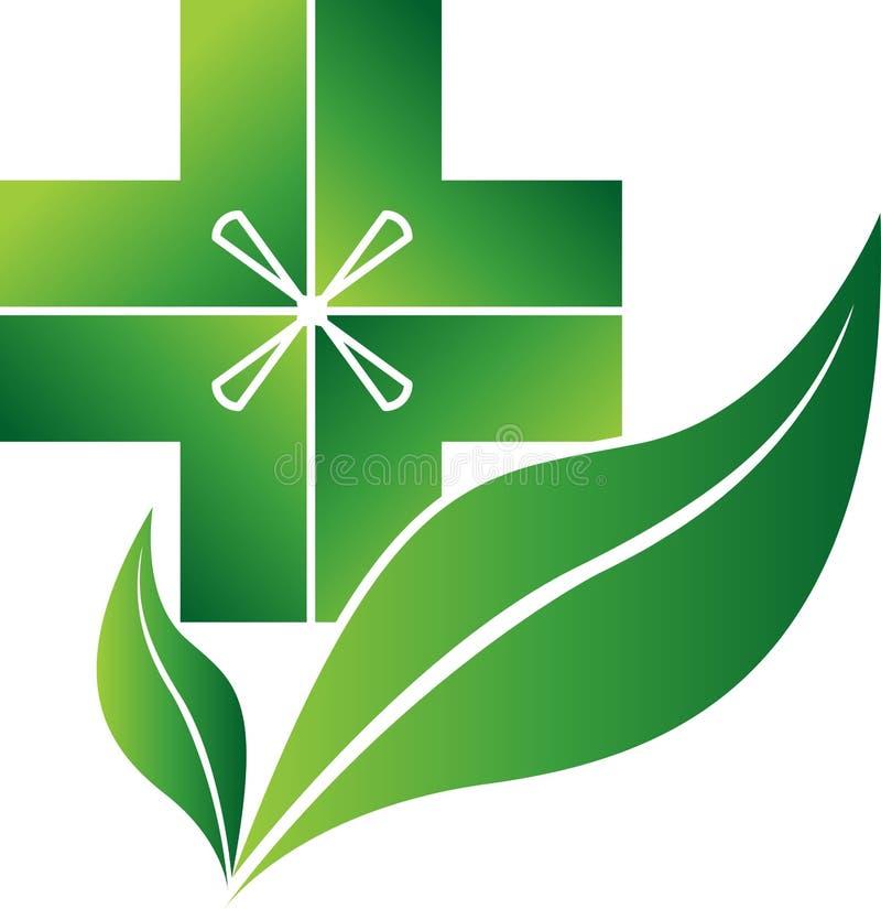βοτανικό λογότυπο γιατρώ ελεύθερη απεικόνιση δικαιώματος
