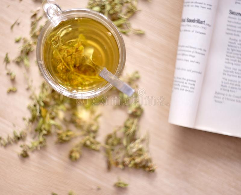 Βοτανικό τσάι καννάβεων στοκ εικόνα