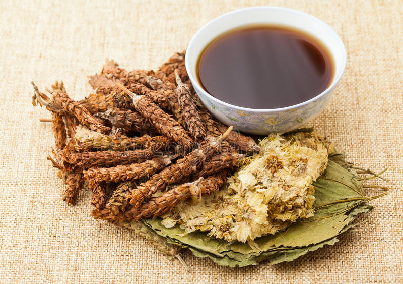 Βοτανικό τσάι παραδοσιακού κινέζικου στοκ φωτογραφία με δικαίωμα ελεύθερης χρήσης