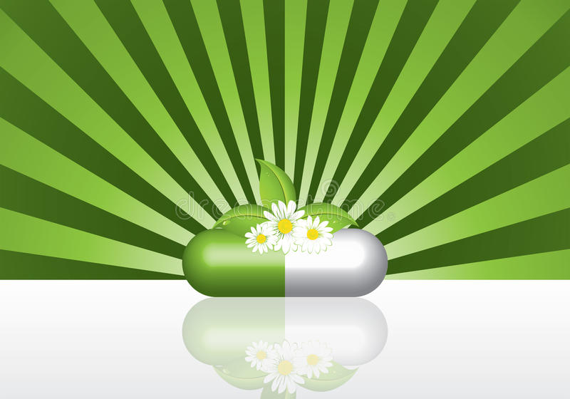 βοτανικό φυσικό χάπι ελεύθερη απεικόνιση δικαιώματος